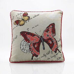 """Farfalla & Coccinella Arazzo Cuscino Copre 18""""x18"""", anche riempito cuscino  </span>"""