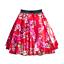 En satin femme Rockabilly Jupe Cerise /& Blossom Rock n Roll UK 1950 S Costume