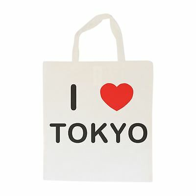 Di Larghe Vedute I Love Tokyo-borsa In Cotone   Taglia Scelta Tote Shopper, O Sling-