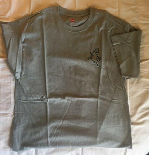 New Short Sleeve T-Shirt David Dunleavy Shark Light Green 2XL