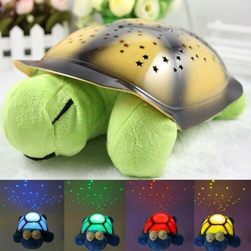 The turtle sky projection lamp turtle night light starslamp musical Sleep turtle