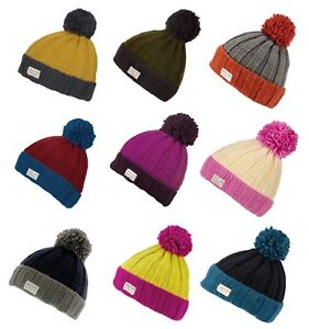 f3a58ab0 Details about Kusan 100% Wool Moss Yarn Turn Up Bobble Beanie Hat Choice of  Colours (PK1525)
