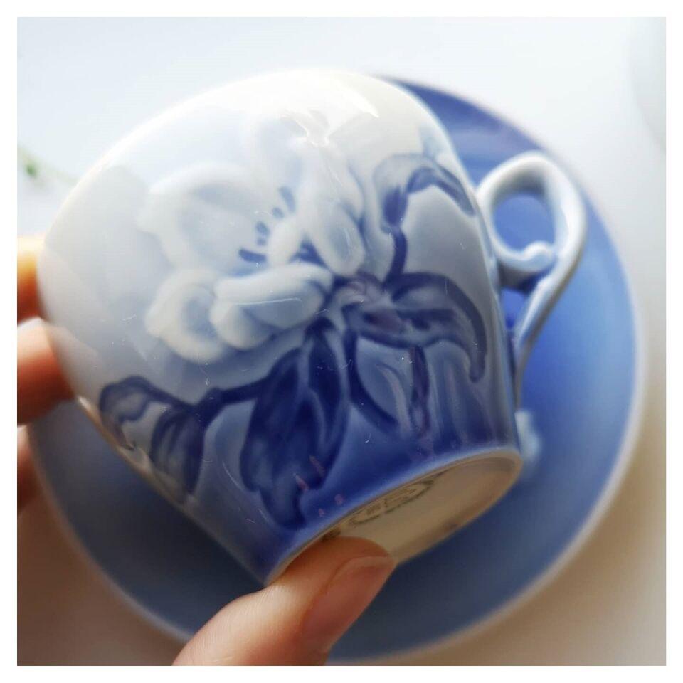 Porcelæn, Kaffekop, Julerose