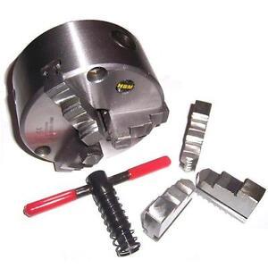 Mandrin-ACIER-de-tour-D-200mm-DIN6350-3-Mors-inter-amp-exter-Cle