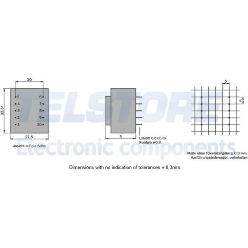 1pcs BVEI3032830 Trasformatore incapsulato 1,5VA 230VAC 15V 100mA 81g HAHN