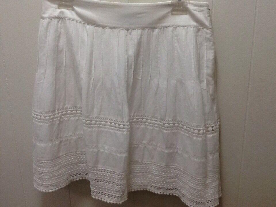Ann Taylor Egg Shell Off White Dressy Career Skirt Size 8 NWT Wedding