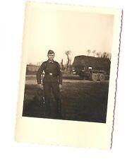Altes Foto Bild Deutsches Reich 2. Weltkrieg Soldat vor LKW [265]