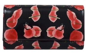 LADIES ELLA DETACHABLE SHOULDER STRAP POPPY BUTTERFLY PRINT CLUTCH BAG 72976