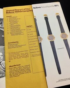 Vintage-Bulova-Accutron-tuning-fork-watch-collectible-1971-Bulova-Annual-Report