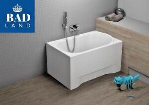 Mini Badewanne Rechteck Acryl 110x70 Schürze Ablaufgarnitur Füße Gratis Badewannen Heimwerker !!
