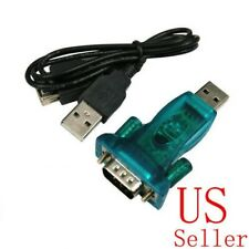 3Ft Translucent USB 2.0 to DB9 RS232 Serial Converter 9 Pin Adapter Cable PDA