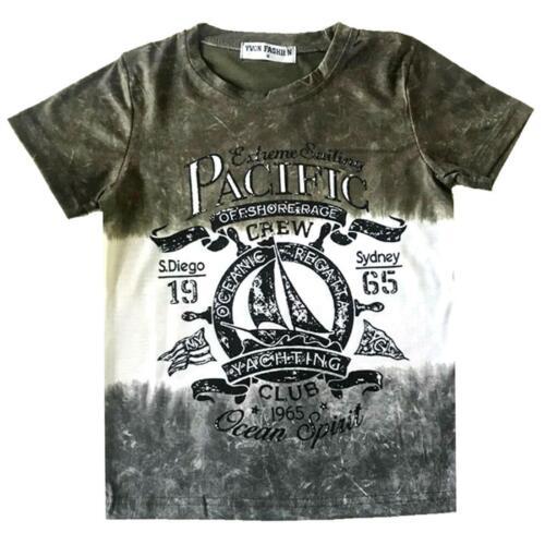 T-Shirts Nyc Brooklyn Urban Designer Casual Cotton Short Sleeve Look Boys Tops