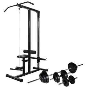 vidaXL-Power-Tower-with-Barbell-and-Dumbbell-Set-30-5kg-Pull-up-Dip-Station