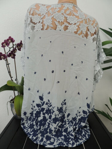 Damen Bluse Größe 44 46 48 50 Übergröße Tunika Blusen Shirt Blumenmuster 112