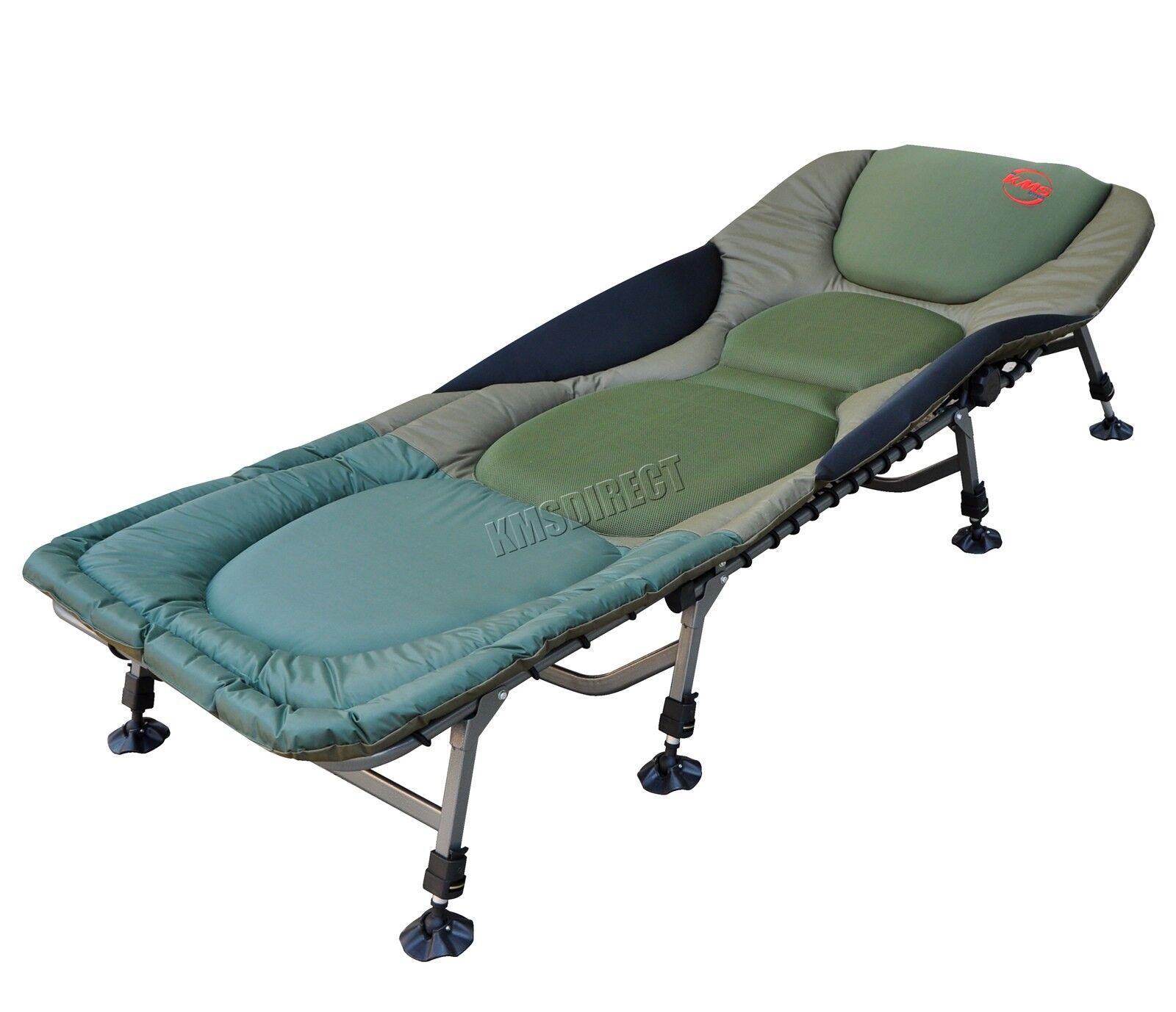 Pesca de Carpa Cama Silla Bedchair Camping Resistente 8 Patas Ajustables FB-022