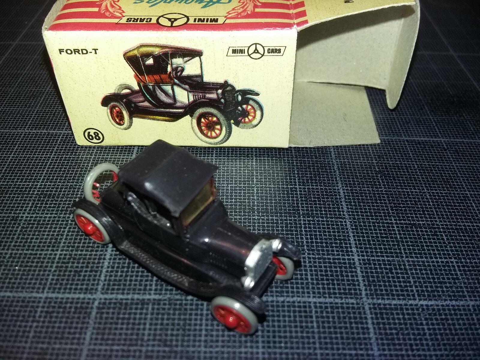 ANGUPLAS MINI CAR HO 1 87 1 86 FORD T NOIRE 1916 BOXED BOITE TBE N°68
