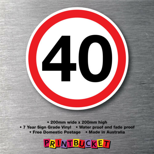 40 Km per hour bus safety sticker water//fade proof 7yr vinyl