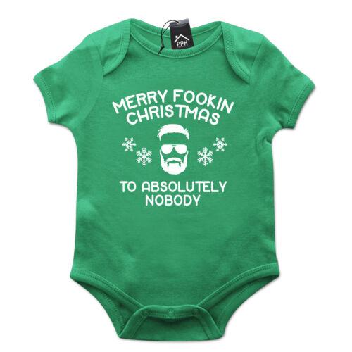 Conor MCGREGOR Buon Natale scopami nessuno FUNNY Babygrow REGALO BABY GROW ch43