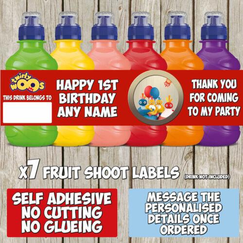 7 x Twirlywoos Personalised Self Adhesive Kitkat Label Birthday Party K014