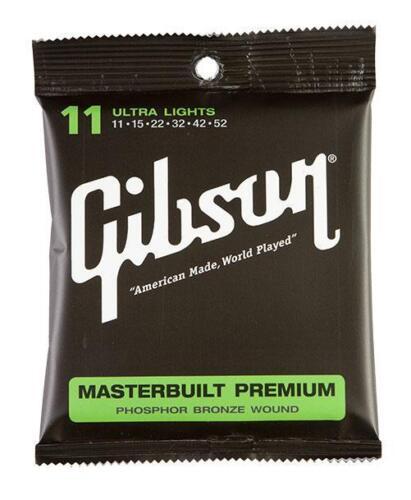 Super Gibson Saiten Masterbuilt Premium Phosphor Bronze ultra light .011 .052