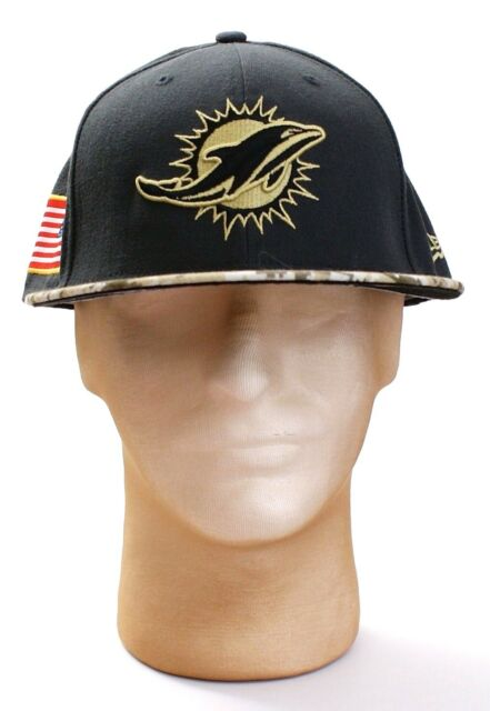 new product adf6c 812aa New Era 59Fifty NFL Miami Dolphins Salute To Service Fitted Hat Cap Adult  NWT