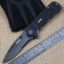 Jeep Rescue Glass Breaker New Tactical Survival Folding Saber Blade Knife Pocket