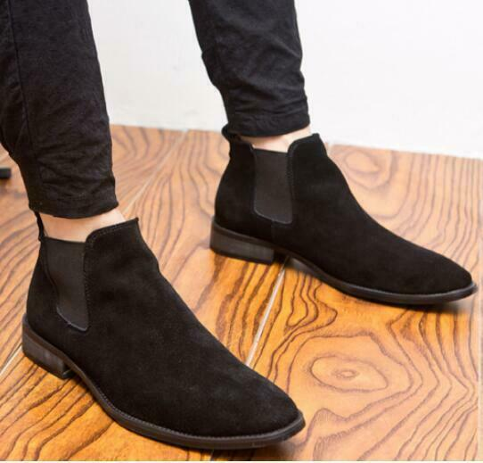 2019 new Mens  Slip On Loafers Pumps Flats shoes Suede British Pointed Toe Sz