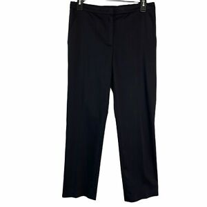 ESCADA-Black-Straight-Leg-Ankle-Cropped-Side-Pockets-Office-Pants-Womens-34-US-S