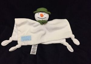 MampS Snowman Blanket Comforter Soother Doudou Marks amp Spencer Cream Green Hat - <span itemprop=availableAtOrFrom>Huntingdon, United Kingdom</span> - MampS Snowman Blanket Comforter Soother Doudou Marks amp Spencer Cream Green Hat - Huntingdon, United Kingdom