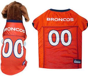 cb808e22c61 big size nfl jerseys NFL Pet Fan Gear Denver Broncos Dog Jersey for Puppy Dogs  XS-2XL ...