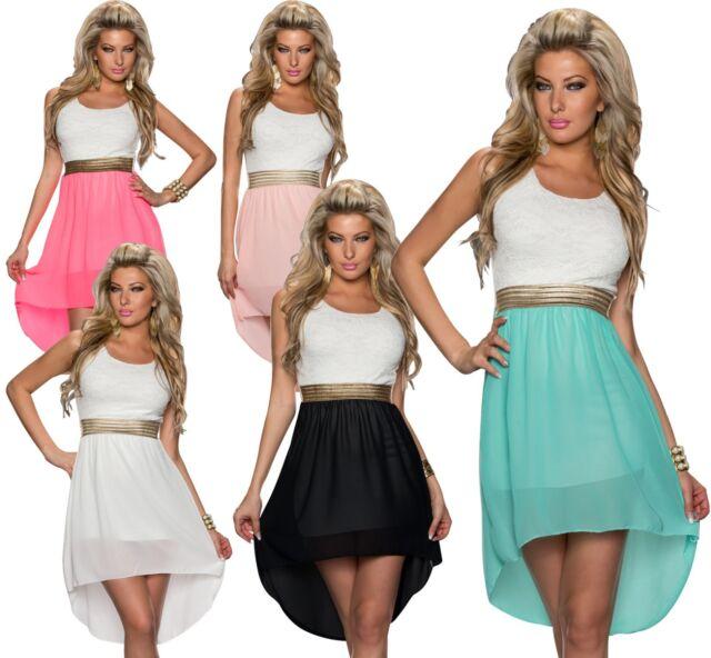 4370 Kleid aus Chiffon Vokuhila-Styl  Minikleid dress verfügbar in 5 Farben