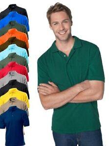 Hanes-G135-Hombre-Lisa-100-Top-Algodon-Polo-Deporte-Camisa-De-Golf-No-Logo