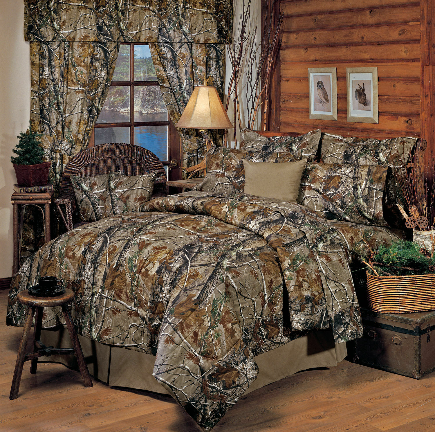 Realtree Camo Camouflage Comforter Set - Bedding Shams Skirt