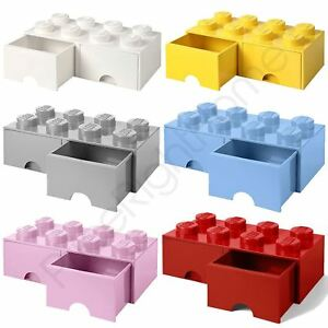 Image Is Loading LEGO BRICK STORAGE BOX 8 WITH 2 DRAWERS