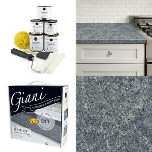 Giani Granite Slate Countertop Paint Kit Gray Covers ...