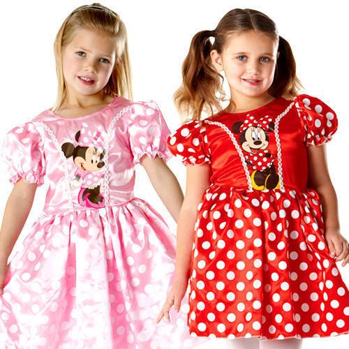 Minnie Mouse Girls Fancy Dress Disney Animal Cartoon Book Day Kids Child Costume