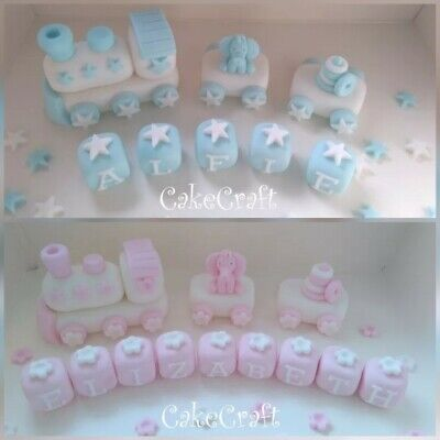 with or without name blocks Elephant Icing Cake topper