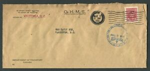CANADA-B-O-B-O254-BLACK-OUT-CANCEL-O-H-M-S-COVER-034-VICTORIA-034