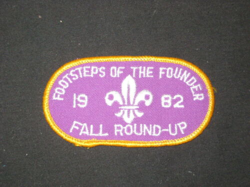 Footsteps of the Founder Fall Roundup 1982 Pocket Patch          c000