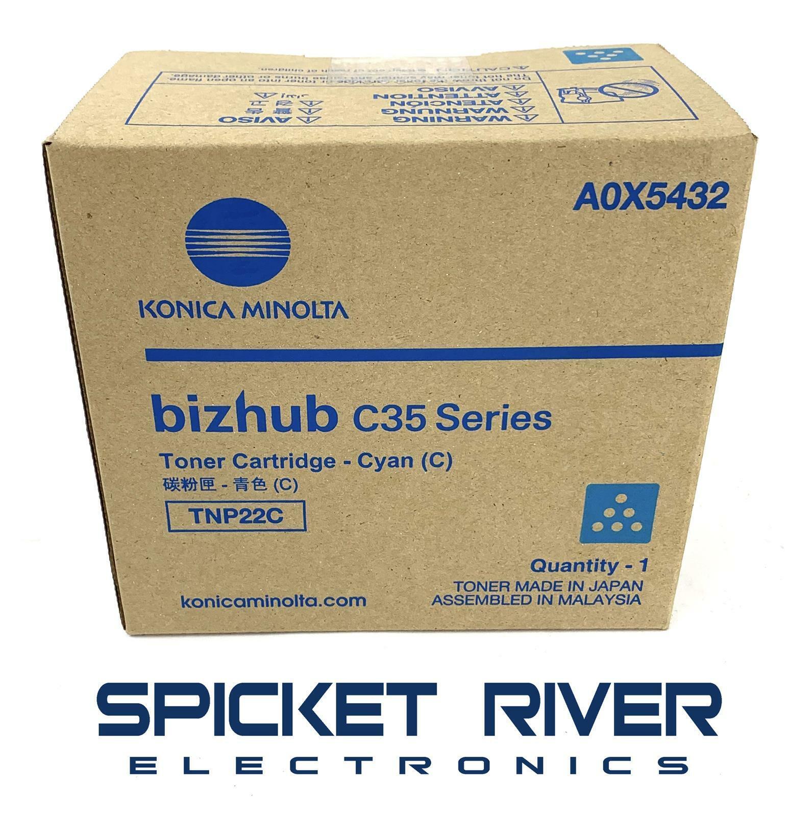 BizHub C35 TNP22C BizHub C35P Replacement Cyan Toner for Konica Minolta A0X5432