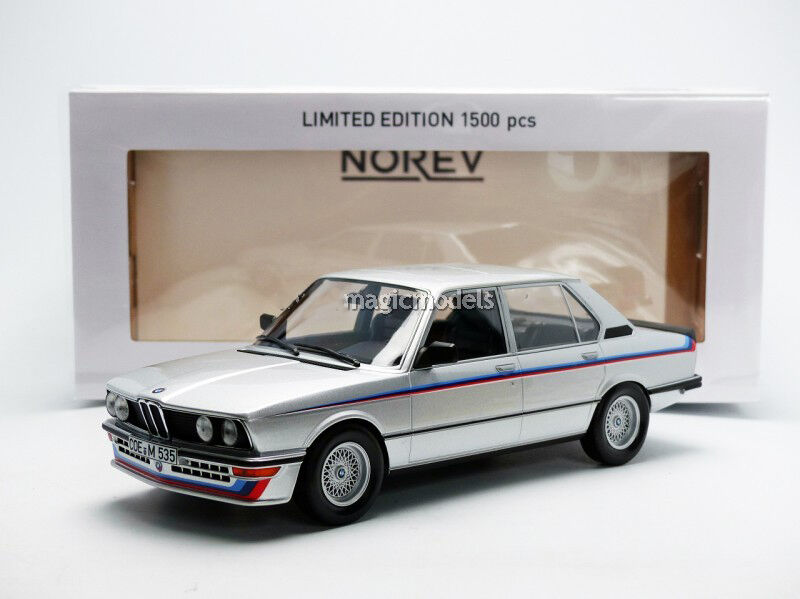Norev 1981 BMW M535i E12 Motorsport argentoo 1 18 Nuovo  in Magazzino  le Of 1500
