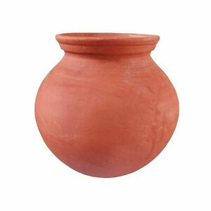 Indian traditional Earthenware Clay Pot for Drinking Water Brown
