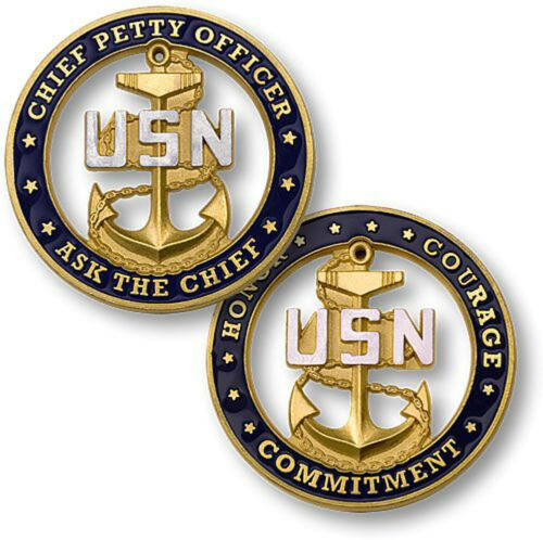 NEW U.S Navy Chief Petty Officer Ask the Chief Challenge Coin.
