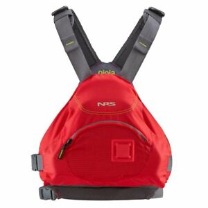 NRS-Ninja-Adult-Small-Medium-PFD-Type-III-Boating-Kayak-Life-Jacket-Vest-Red
