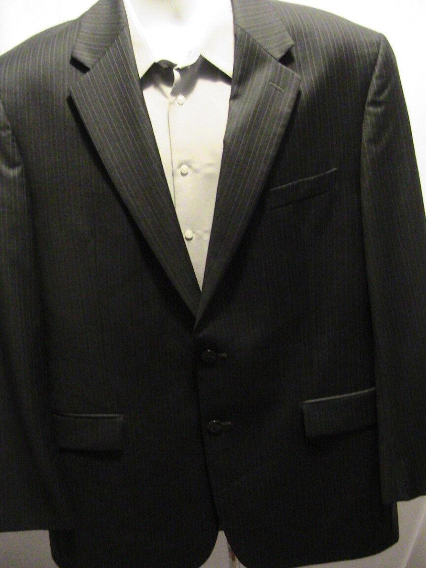 Ralph Lauren Blazer Sport Coat 2 btn charcoal pinstripe size 44L