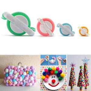 4-Sizes-Pom-pom-Maker-kit-Fluff-Ball-Weaver-Needle-Knit-Craft-bobble-Tool