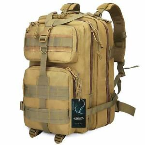 40L-Men-Military-Tactical-Backpack-Outdoor-Rucksack-Camping-Tan-Bag-Gyming-Molle
