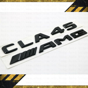 """CLA45 AMG"" LOGO CUSTOMISED GLOSS BLACK EMBLEMS BADGE SET MERCEDES BENZ CLA C117"