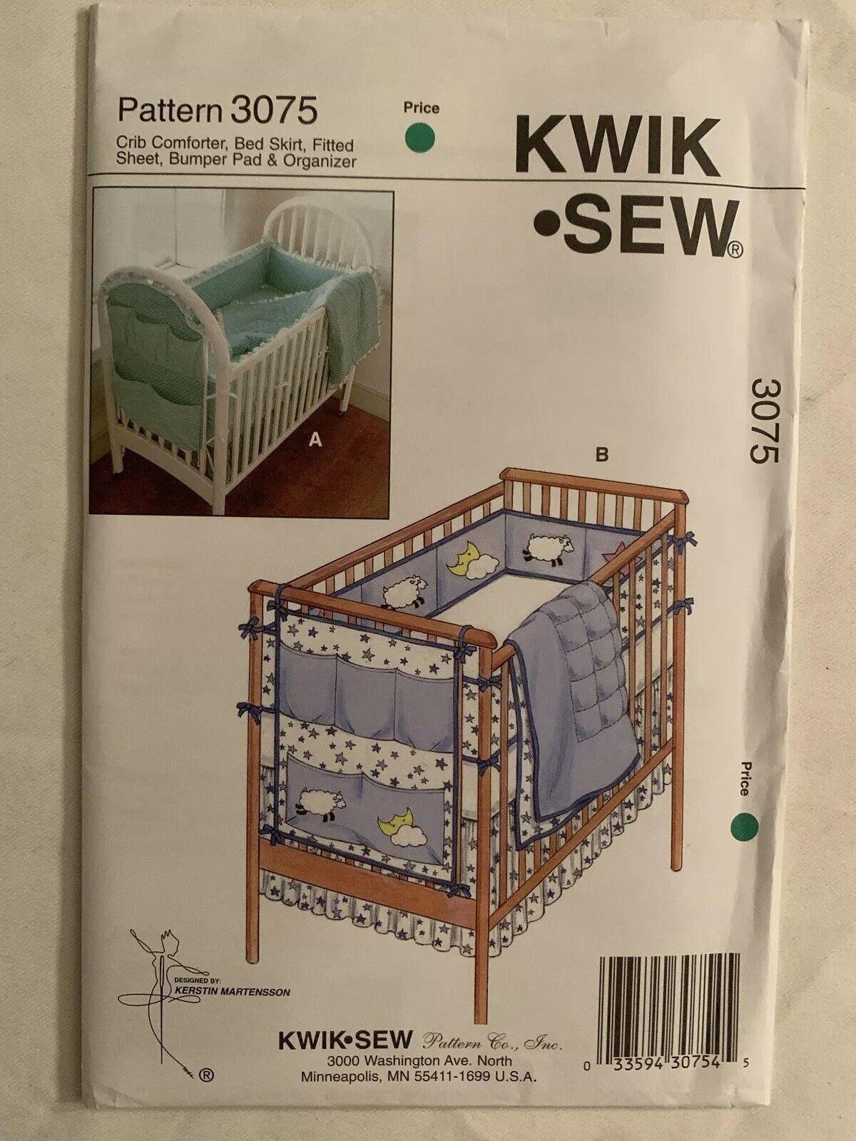 Kwik Sew K3685 Crib Comforter Sewing Pattern Skirt