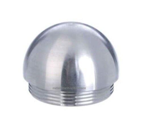 #2728 V2A Edelstahl Endkappe rund für Rohr 42,4 x 2,0 mm zum Einschlagen